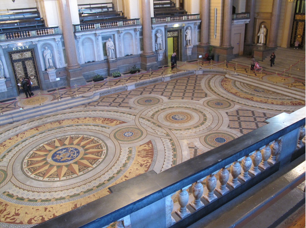 Minton Tiles Reveal St Georges Hall Liverpool 3rd 12th August